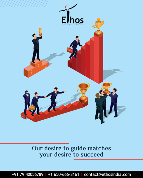 Looking to achieve your career goals without getting lost in the crowd?  Let our desire to guide match your desire to succeed in life.  #EthosIndia #Ahmedabad #EthosHR #Recruitment #CareerGuide #India