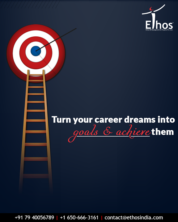 Your dreams are closer than you think! Turn your career drams into goals & achieve them with Ethos India.  #EthosIndia #Ahmedabad #EthosHR #Recruitment #CareerGuide #India