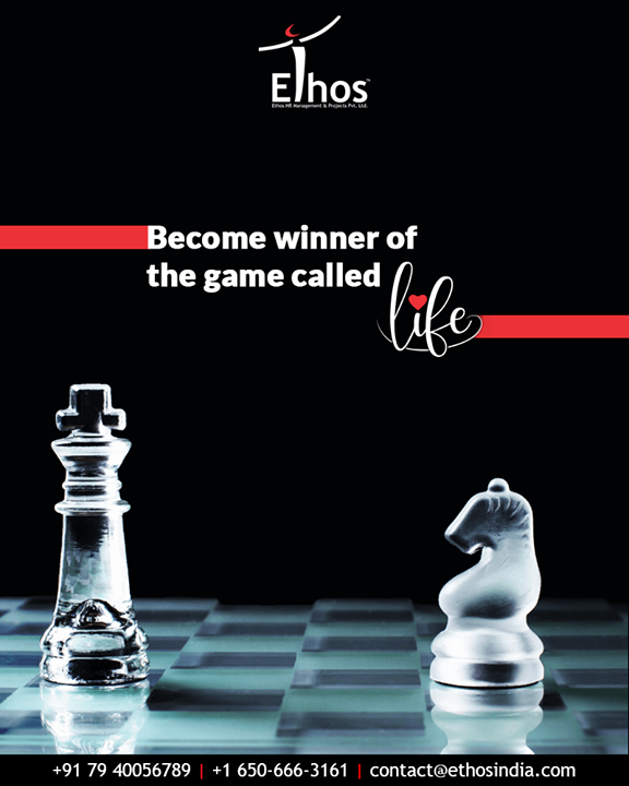 Have an award-winning strategy and become the winner of the game called life.  #MondayMotivation #TOTD #EthosIndia #Ahmedabad #EthosHR #Recruitment #CareerGuide #India