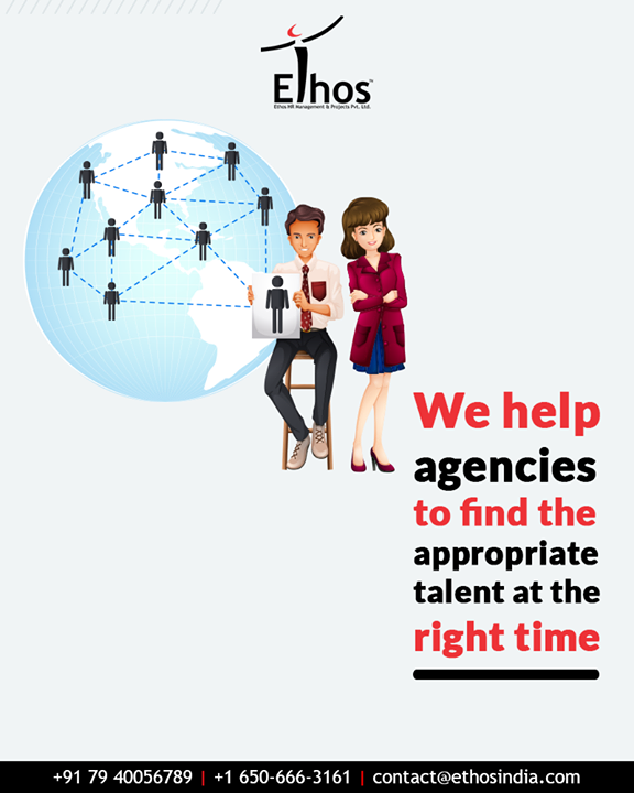 Finding the appropriate talents at the right time has been a challenge for organizations. Understanding the above mention scenario, we help agencies to recruit the right candidates at the right time.  #EthosIndia #Ahmedabad #EthosHR #Recruitment #CareerGuide #India