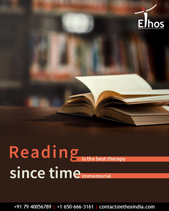 The advantages of reading books are actually uncountable. Since time immemorial, this reading hobby has proved to be the best therapy. Tell us, how often do you get indulged into the world of reading?  #EthosIndia #Ahmedabad #EthosHR #Recruitment #CareerGuide #India
