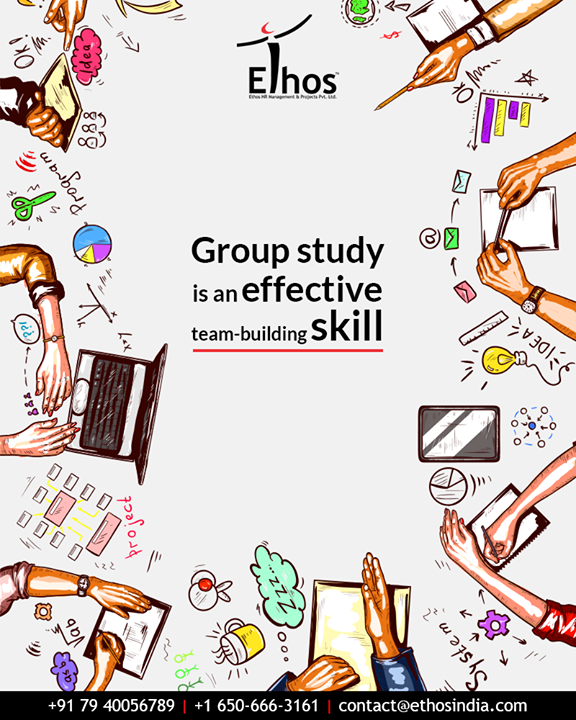 Looking to take the baby-steps in-order to strengthen your teamwork capabilities? Start climbing the ladder with group studies.  #TipOfTheDay #EthosIndia #Ahmedabad #EthosHR #Recruitment #CareerGuide #India