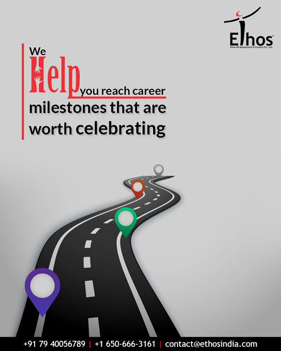 Every individual has their own set of aspirations and goals to pass. Get in touch and we will help you to reach career milestones that are worth celebrating.  #EthosIndia #Ahmedabad #EthosHR #Recruitment #CareerGuide #India