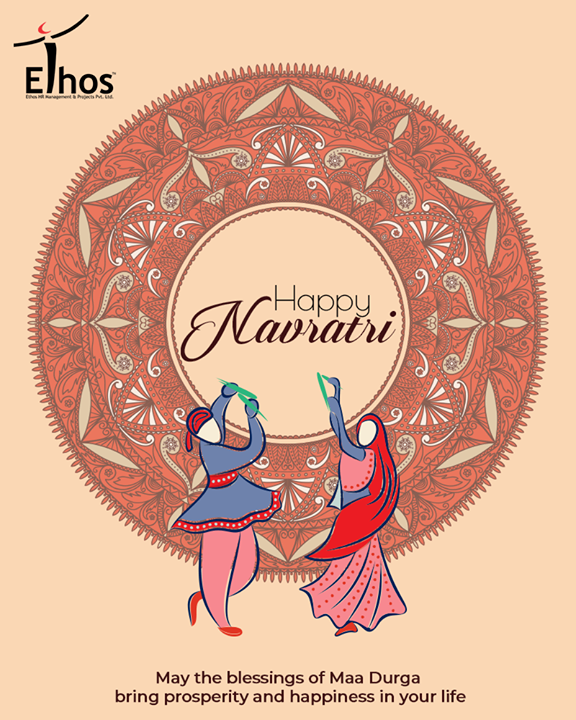 May the blessings of Maa Durga bring prosperity and happiness in your life  #Navratri #Navratri2019 #HappyNavratri #Dandiya #Garba #NavratriFever #IndianFestivals #ShubhNavratri #Festival #Celebration #EthosIndia #Ahmedabad #EthosHR #Recruitment #CareerGuide #India