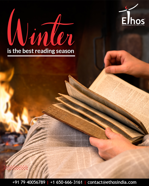 Hello book-worms, welcome on board!  The best reason for reading is once again here, all you need to do is pair up reading with your favourite cup of coffee and make the most of the pleasant atmosphere.  #HappyWinterReading#EthosIndia #Ahmedabad #EthosHR #Recruitment #CareerGuide #India