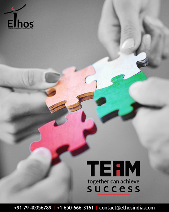 Great things are never done by one person. They're done by a team of people  #TeamWork #TeamAchievesSuccess #EthosIndia #Ahmedabad #EthosHR #Recruitment #CareerGuide #India