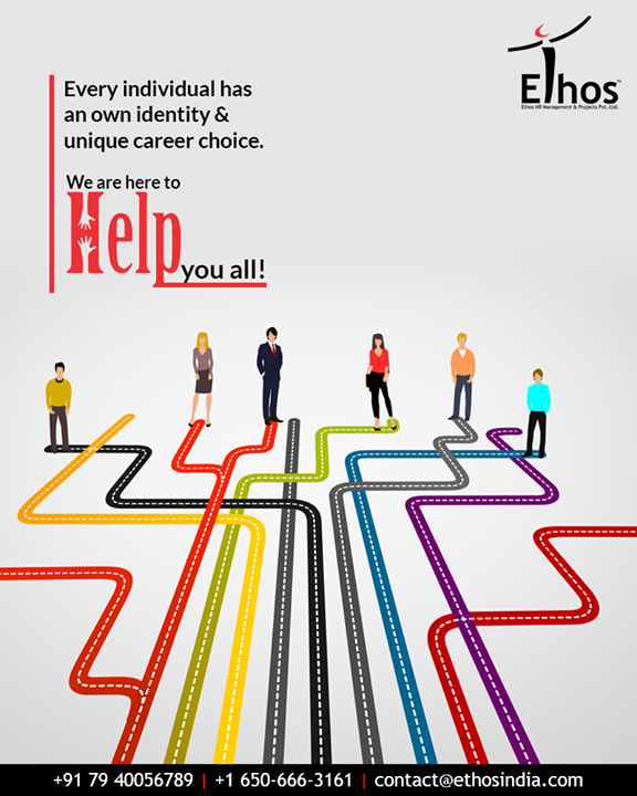 Confused about your career?  Understanding that every individual has an own identity and a unique career choice, we are here to offer help to all.  #EthosIndia #Ahmedabad #EthosHR #Recruitment #CareerGuide #India