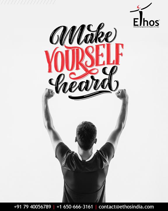 Be a voice; not an echo and make yourself heard!  #MondayMotivation #QOTD #CareerOptions #CareerGrowth #EthosIndia #Ahmedabad #EthosHR #Recruitment #CareerGuide #India