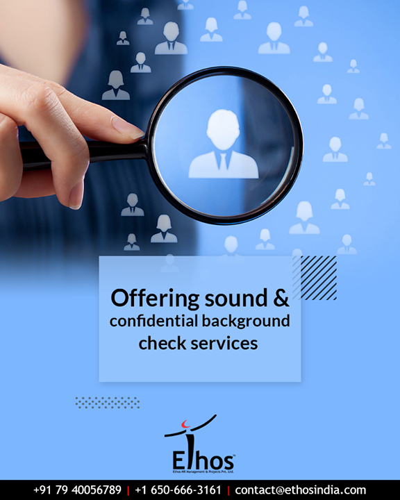 If you are an employer and you want peace of mind over a potential new hire then you ought to get the employee background check done for them.  Get in touch and we will help you withsound & confidential background check services .  #EmployeeVerification #AccurateCareerOption #EthosIndia #Ahmedabad #EthosHR #Recruitment #CareerGuide #Indi