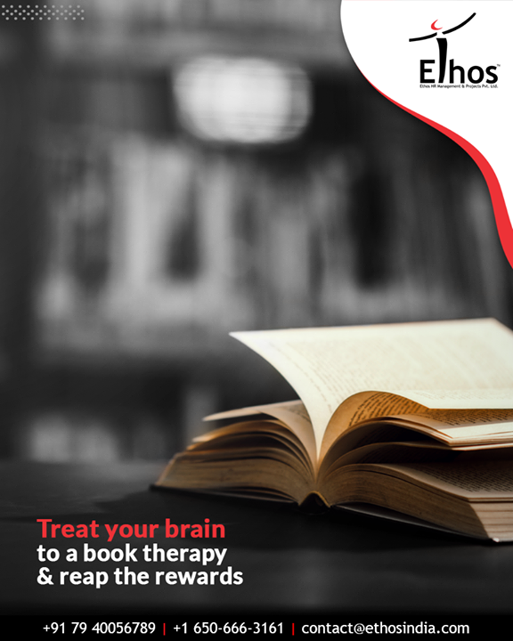 The habit of reading enhances your brain health and your career. It helps in lowering stress, making you smarter and also a better leader.  Treat your brain to a book therapy & reap the rewards.  #TipOfTheDay #Reading #BookReadingIsATherapy #CareerOpportunity #AccurateCareerOption #EthosIndia #Ahmedabad #EthosHR #Recruitment #CareerGuide #India