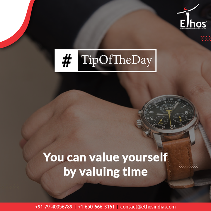 Time and tide waits for none. If you make proper utilization of time then you are bound to witness wonders but if you fail to make hay while the sun shines then you are certainly to cry over the split milk.  This 2020, resolve to value yourself by valuing time.  #TipOfTheDay #TimeManagement #InterviewTips #CareerGuide #EthosIndia #Ahmedabad #EthosHR #Recruitment #RPO #SuccessfulCareer #BPI #RecruitmentProcessOutsourcing