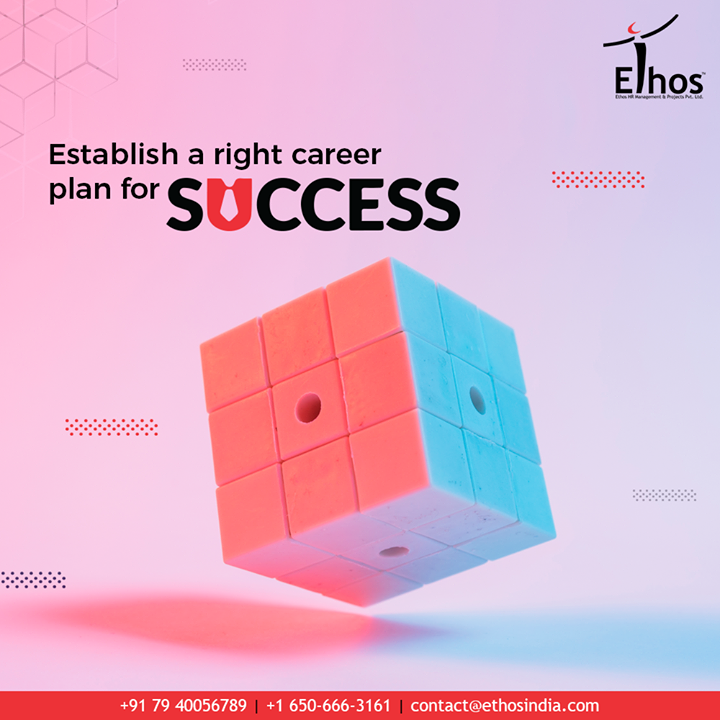 Success is not a matter of luck; it is the sum total of every small steps taken.Establish a right career plan for success with the expert career guide; #Ethos India.  #EthosHR #Recruitment #RPO #SuccessfulCareer #BPI #RecruitmentProcessOutsourcing