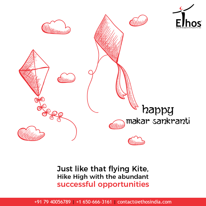Just like that flying kite, hike high with the abundant successful opportunities.  #MakarSankranti2020 #MakarSankranti #Kites #KitesFestival #Uttarayan #Uttarayan2020 #KiteFlying #CelebrationTime #EthosIndia #Ahmedabad #EthosHR #Recruitment #CareerGuide #India