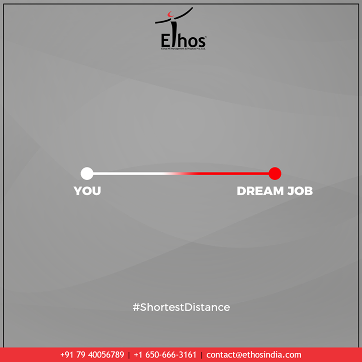 Ethos helps you create a career plan that will lead you to your dream job.  #ShortestDistance #TrendingFormat #TrendingNow#EthosIndia #Ahmedabad #EthosHR #Recruitment #CareerGuide #India
