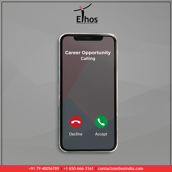 Discover the right career path and choose a career that will suit your personality the best.  Answer the call from career opportunity withEthos India.  #TrendingFormat #CareerOpportunity #EthosIndia #Ahmedabad #EthosHR #Recruitment #CareerGuide #India