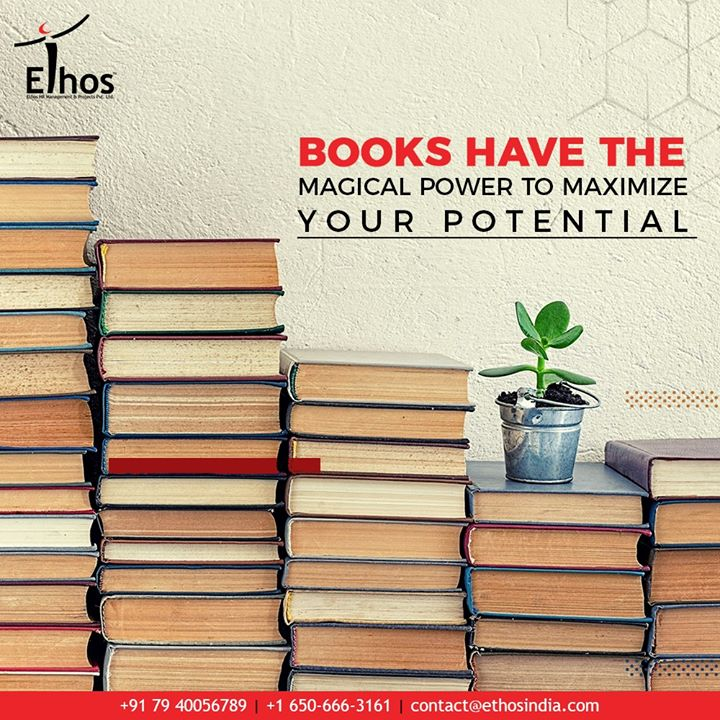 Books have the magical power to maximize your potential. Reading is that one hobby that helps to propel you toward success in your career and dreams.  #EthosIndia #Ahmedabad #EthosHR #Recruitment #CareerGuide #India