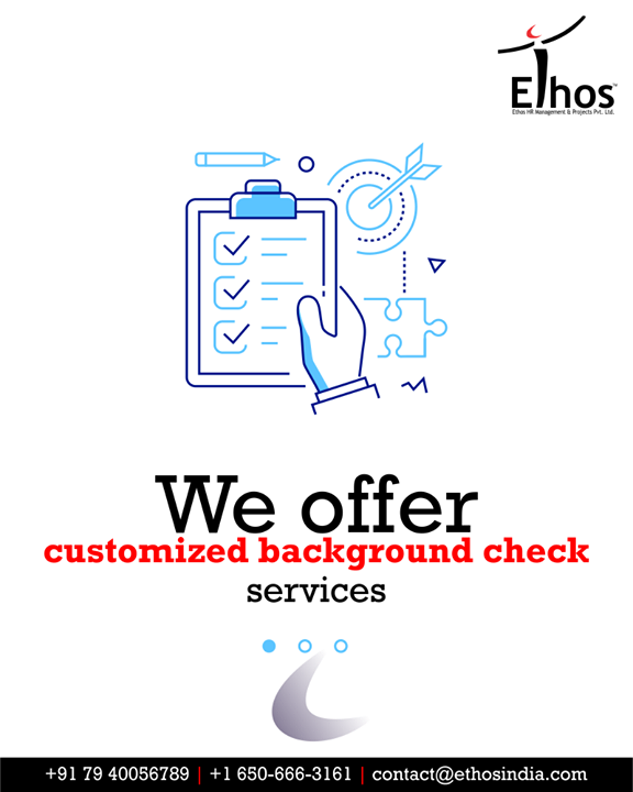 Protect your company from financial, reputational and security threats by getting the customized background services.  #FightCorona #CareerOpportunity #EthosIndia #Ahmedabad #EthosHR #Recruitment #CareerGuide #India