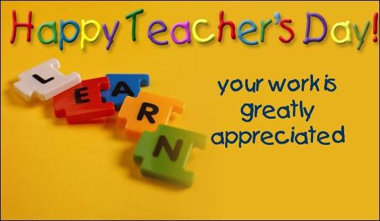 Happy Teachers day from Team Ethos India..