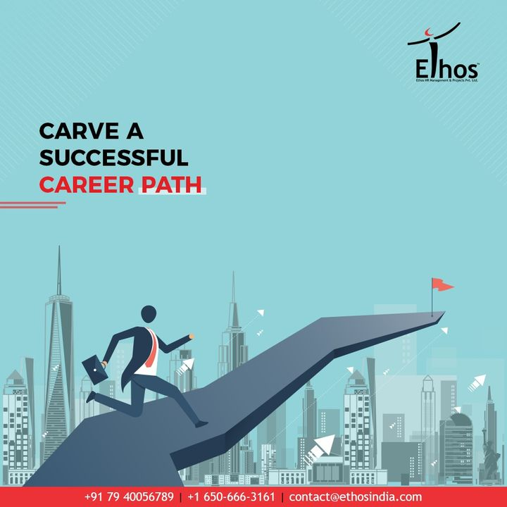 Carve a successful career path and achieve your career dreams with Ethos India  Get the best career guidance with Ethos India  #CareerPath #EthosIndia #Ahmedabad #EthosHR #Recruitment #CareerGuide #India
