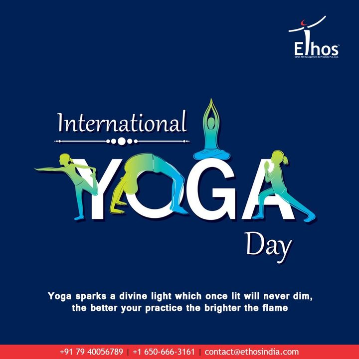 Yoga sparks a divine light which once lit will never dim, the better your practice the brighter the flame.  #InternationalDayofYoga #InternationalYogaDay #YogaDay #YogaDay2020 #Yoga #IDY2020 #IYD2020 #EthosHR #Recruitment #CareerGuide #India