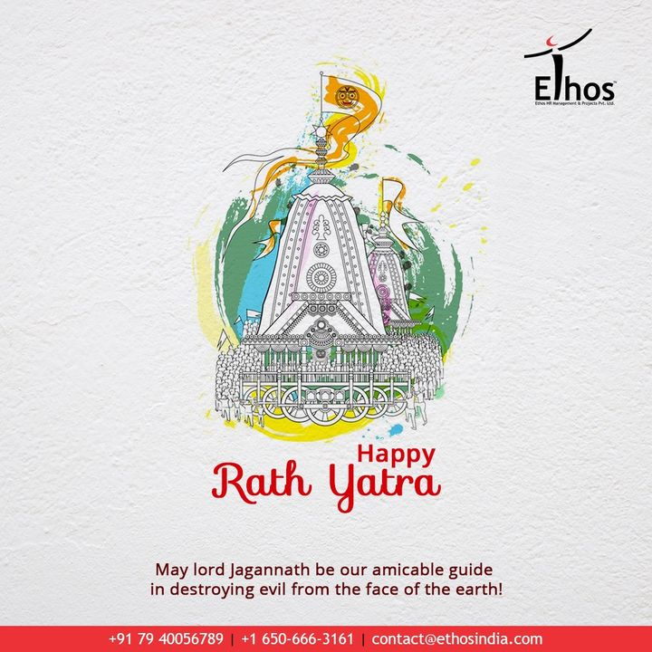 May Lord Jagannath be our amicable guide in destroying evil from the face of the earth!  #RathYatra2020 #RathYatra #LordJagannath #FestivalOfChariots #Spirituality #EthosIndia #Ahmedabad #EthosHR #Recruitment #CareerGuide #India