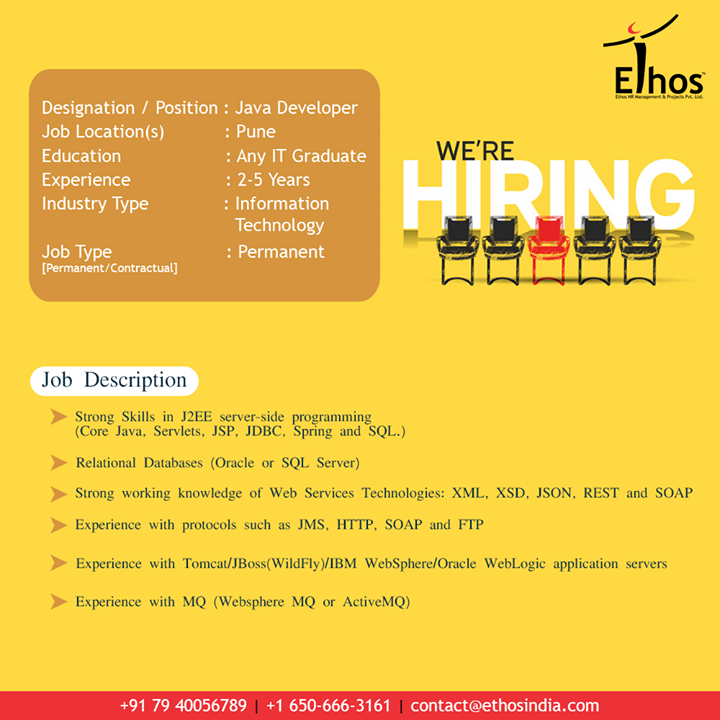Hirings!  #Jobs #JobDescription #EthosIndia #Ahmedabad #EthosHR #Recruitment #CareerGuide #India
