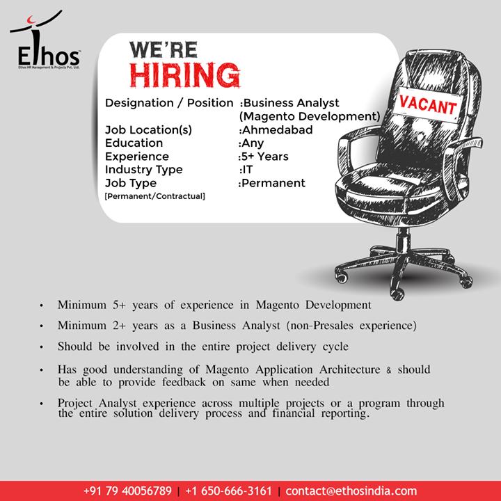 Hirings!  #Jobs #EthosIndia #Ahmedabad #EthosHR #Recruitment #CareerGuide #India