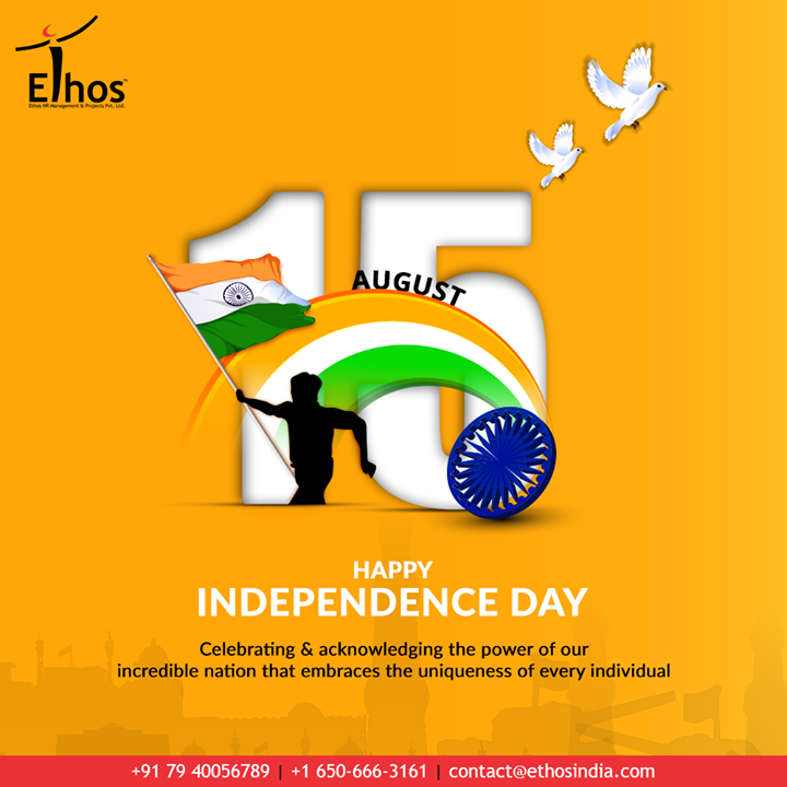 Celebrating & acknowledging the power of our incredible nation that embraces the uniqueness of every individual  #IndependenceDay #JaiHind #IndependencedayIndia #HappyIndependenceDay #IndependenceDay2020 #ProudtobeIndian #EthosIndia #Ahmedabad #EthosHR #Recruitment #CareerGuide #India