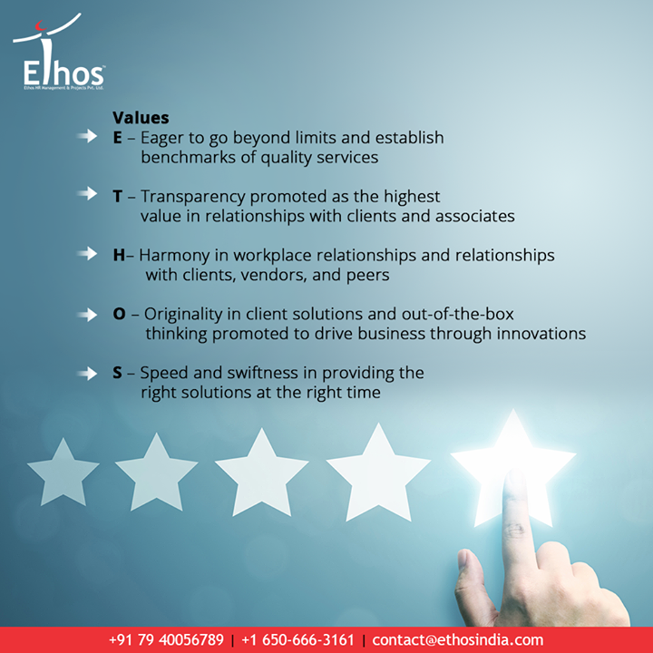 To build a value chain for all our clients delivering talent, learning & advisory solution with a pledge to keep it simple, informative, and useful throughout our joint business life.  #EthosIndia #Ahmedabad #EthosHR #Recruitment #CareerGuide #India