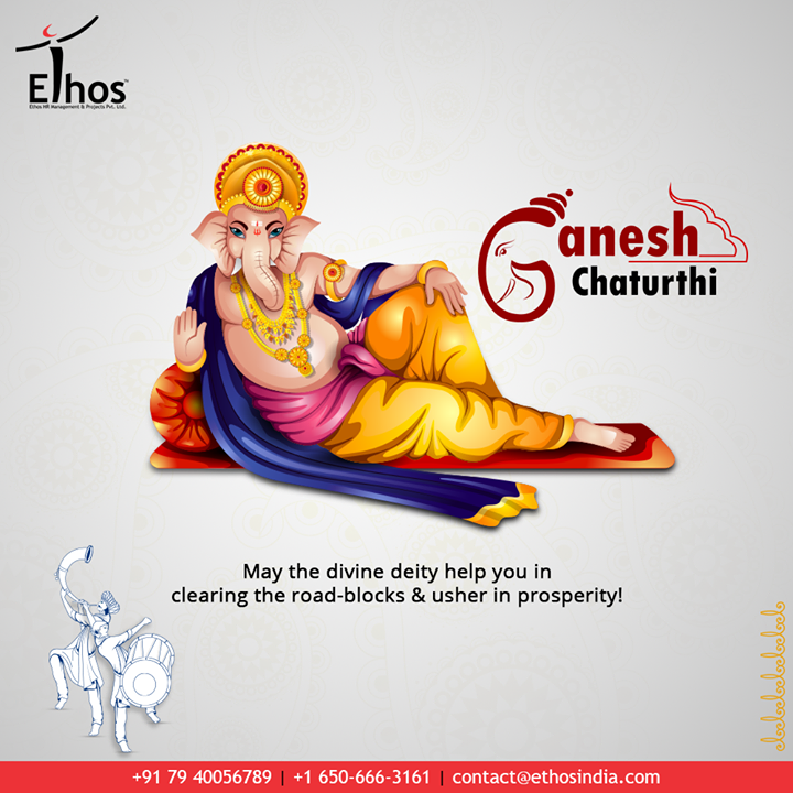 May the divine deity help you in clearing the road-blocks & usher in prosperity!  #HappyGaneshChaturthi #GaneshChaturthi2020 #GanpatiBappaMorya #Ganesha #GaneshChaturthi #IndianFestival #EthosIndia #Ahmedabad #EthosHR #Recruitment #CareerGuide #India