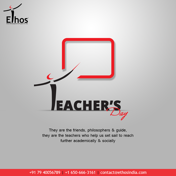 They are the friends, philosophers & guide; they are the teachers who help us set sail to reach further academically & socially  #HappyTeachersDay #TeachersDay #Guru #TeachersDay2020 #ShriSarvepalliRadhakrishnan #EthosIndia #Ahmedabad #EthosHR #Recruitment #CareerGuide #India
