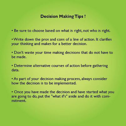 Are you the one who's always confused while making decisions? Here are some tips!