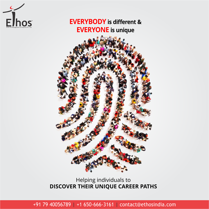 At Ethos India, we very well understand that everybody is different & everyone is unique.  We have been helping individuals to discover their unique career paths since inception.  #DefeatUnemployment #GetEmployed #EthosIndia #Ahmedabad #EthosHR #Recruitment #CareerGuide #India #SuccessFormula