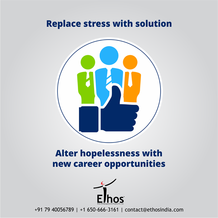 Crying over the lost job will not help but get in touch with the right career guide definitely will.  Replace stress with a solution and alter hopelessness with new career opportunities.  #CareForYourCareer #OurServices #CareerOpportunity #EthosIndia #Ahmedabad #EthosHR #Recruitment #CareerGuide #India