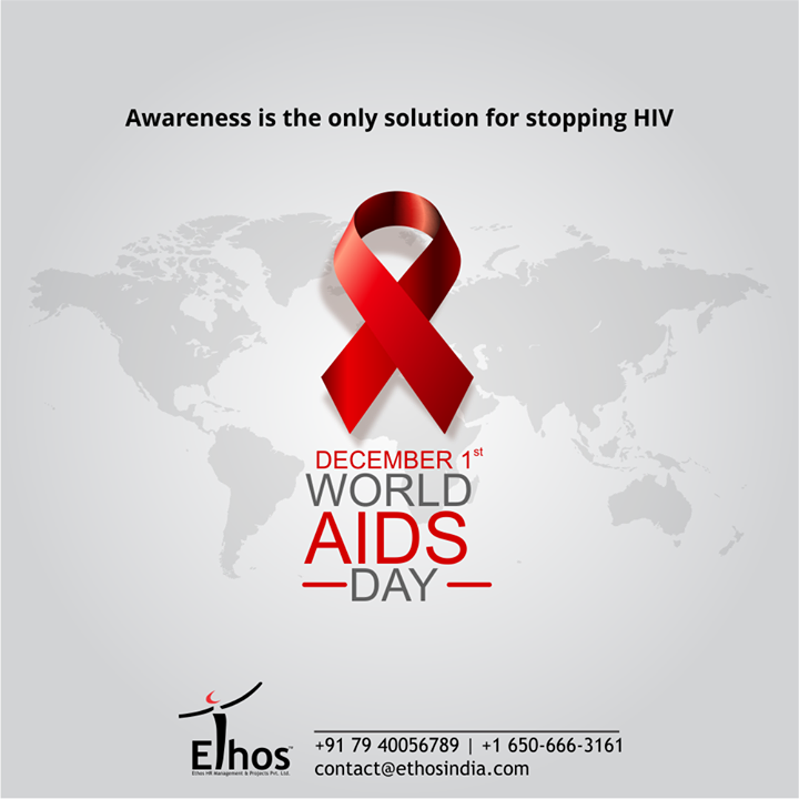 Awareness is the only solution for stopping HIV  #WorldAIDSDay #AIDS #WorldAIDSDay2020 #FightAIDS #AIDSEducation #ThingsWeDo #CareForYourCareer #OurServices #CareerOpportunity #EthosIndia #Ahmedabad #EthosHR #Recruitment #CareerGuide #India