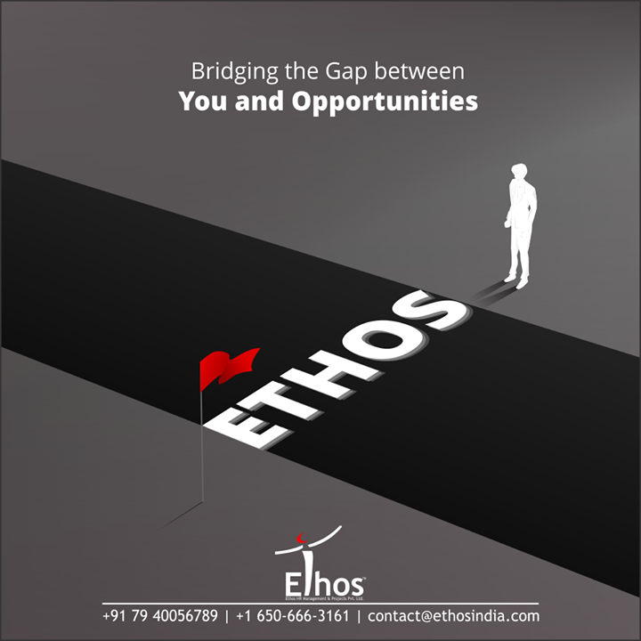 Through our impeccable HR services, we bridging the gap between opportunities and you!  #WeCareForYourCareer #ThingsWeDo #WhatMakesUsStandOut #OurServices #CareerOpportunity #EthosIndia #Ahmedabad #EthosHR #Recruitment #CareerGuide #India