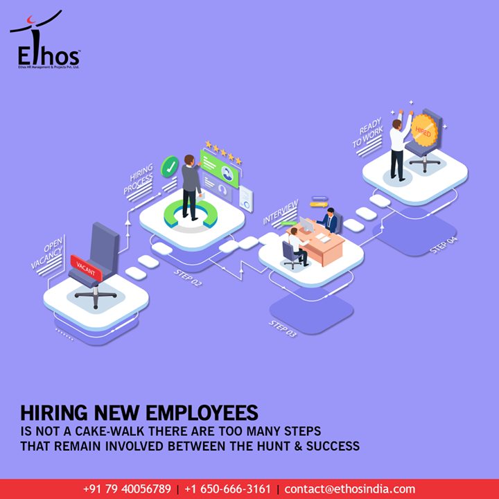 Hiring new employees in your organization can never be a cake-walk. There are too many steps that remain involved between the process of employ hunting & employment.   Reckon the importance of the right candidates because they can prove to be your organizational assets over the period of time. So stay wise and think before you hire.  #JobRecruitment #EmployeeHiring #CareerCounselling #OurServices #CareerOpportunity #EthosIndia #Ahmedabad #EthosHR #Ethos #HR #Recruitment #CareerGuide #India