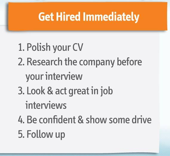#Tips to get #hired -