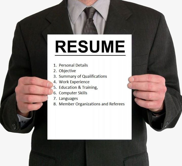 Here's what your #resume should contain :