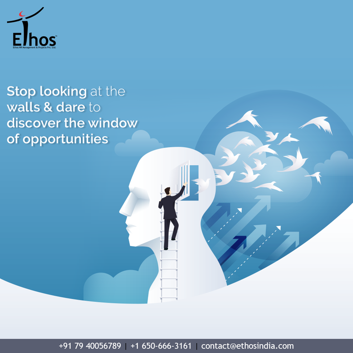 Time changes, people change and also changes the career opportunities!  Stop looking at the walls & dare to discover the window of opportunities with the career guide; Ethos India.  #EthosIndia #Ahmedabad #EthosHR #Ethos #HR #Recruitment #CareerGuide #India