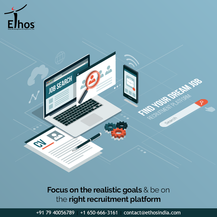 If you wish to sort through the career clutter and confusions then you must focus on the realistic goals & be on the right recruitment platform.  #EthosHR #Ethos #HR #Recruitment #CareerGuide #India