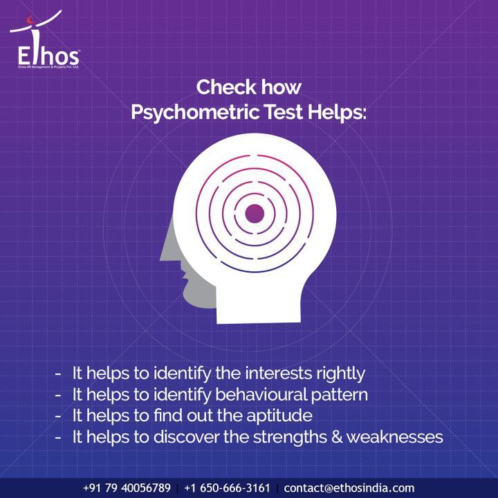Psychometric testing acts as a boon for the organizations when it comes to the employment of new employees.   - It helps to identify the interests rightly - It helps to identify behavioural pattern  - It helps to find out the aptitude - It helps to discover the strengths & weaknesses  #EthosHR #Ethos #HR #Recruitment #CareerGuide #India