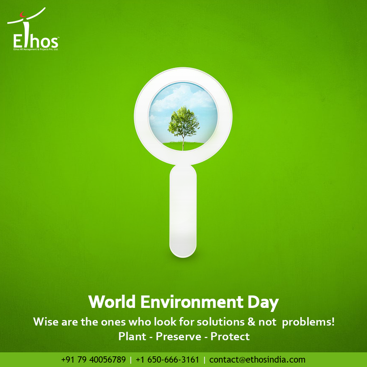 Wise are the ones who look for solutions & not problems!  Plant - Preserve - Protect  #WorldEnvironmentDay #EnvironmentDay #EnvironmentDay2021 #SaveEnvironment #WorldEnvironmentDay2021 #GenerationRestoration #EthosHR #Ethos #HR #Recruitment #CareerGuide #India