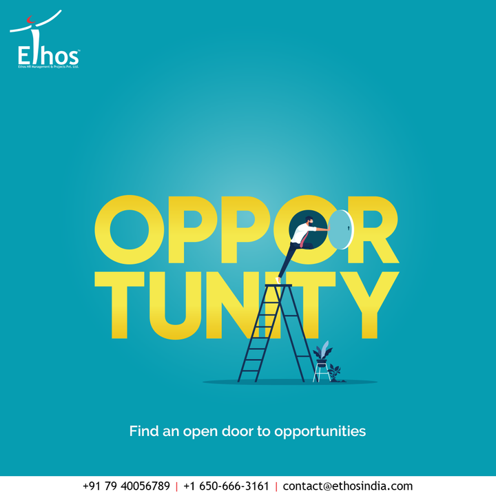 Opportunity favours the enthusiastic ones!  Choose the best career guide and find an open door to opportunities.  #EthosHR #Ethos #HR #Recruitment #CareerGuide #India