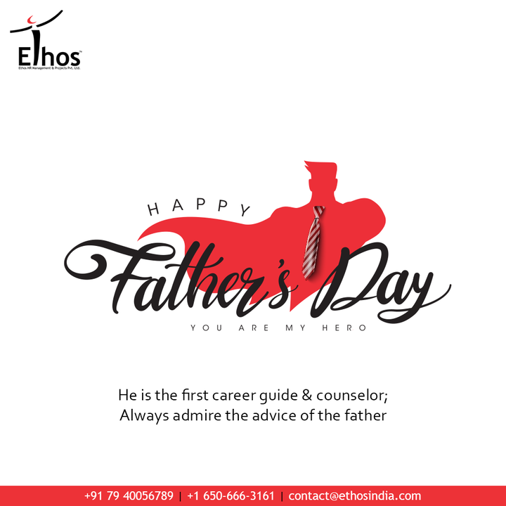 He is the first career guide & counselor; Always admire the advice of the father  #fathersday2021 #happyfathersday #fathersday #dad #love #father #family #bestdadever #bhfyp #daddy #fathers #fatherhood #EthosHR #Ethos #HR #Recruitment #CareerGuide #India