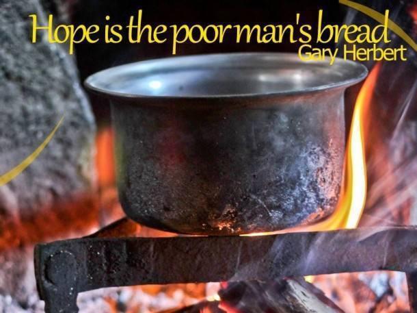 Ethos India,  Hope, PoorMan, Bread