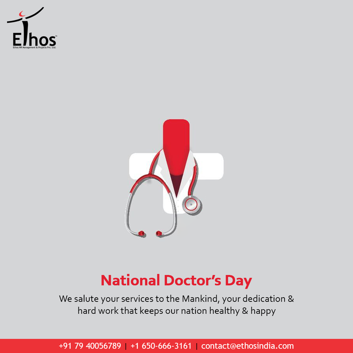 We salute your services to the Mankind, your dedication and hard work that keeps our nation healthy and happy  #HappyDoctorsDay #DoctorsDay #Doctors #DoctorsDay2021 #NationalDoctorsDay #EthosHR #Ethos #HR #Recruitment #CareerGuide #India