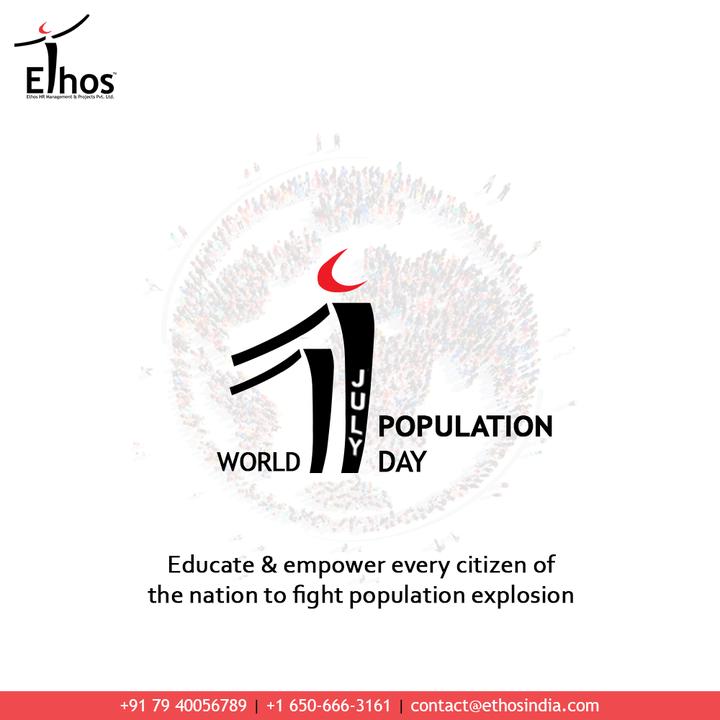 Ethos India,  WorldPopulationDay, WorldPopulationDay2021, StopPopulation, PopulationControl, PopulationDay, EthosIndia, Ahmedabad, EthosHR, Ethos, HR, Recruitment, CareerGuide, India