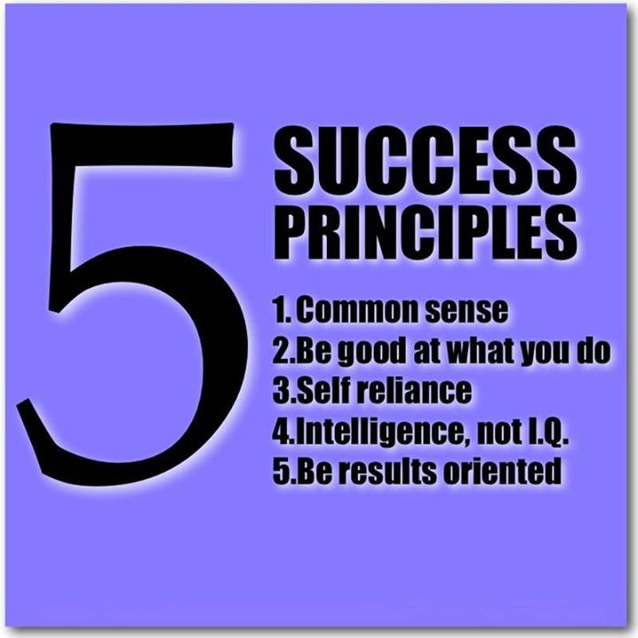 #Success principles -