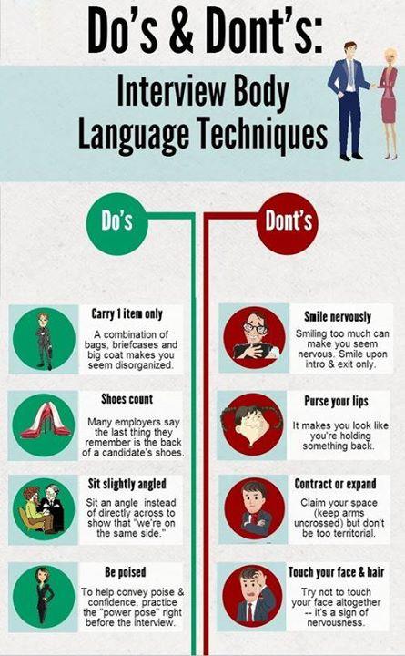 #Interview body language techniques!